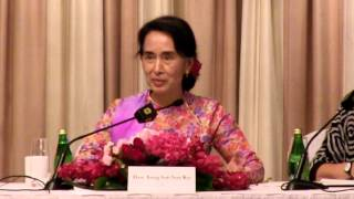 Aung San Suu Kyi Press Conference, Shangri-La Hotel, September 23, 2013