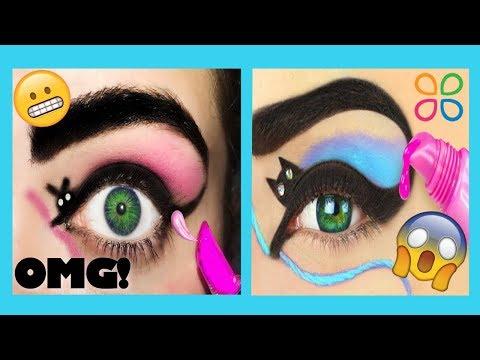 Trying Troom Troom's AWFUL Makeup Hacks