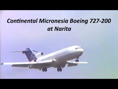 【 成田空港 なつかしい系 】 Continental Micronesia Boeing 727-200