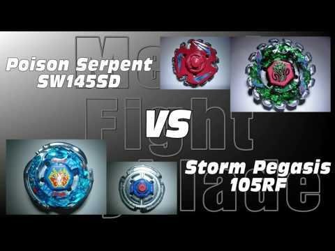 Poison Serpent SW145SD VS Storm Pegasis 105RF - AMVBB Beyblade Battle