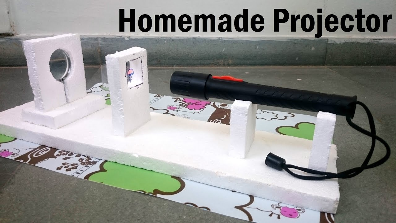 How to make a projector at home youtube for Waste material video