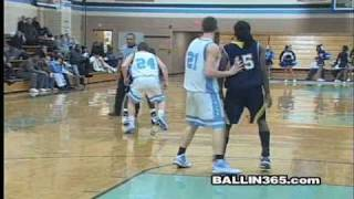 Franklin High (NJ) players crack ankles and bang on defender  for a dunk (RIDICULOUS)