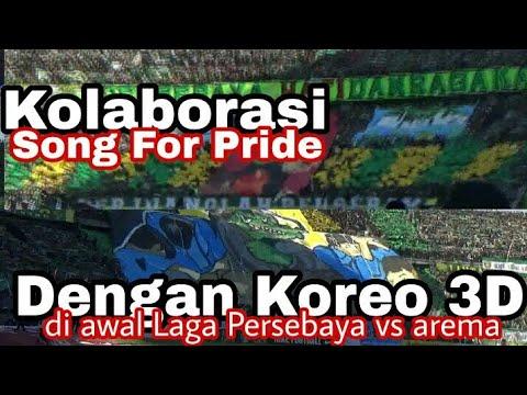 Saat Semua Tribun Bersamaan Ciptakan Koreo | Song For Pride Awal Laga Persebaya Vs Arema