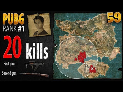 PUBG Rank 1 - Anthony 20 kills SOLO - PLAYERUNKNOWN'S BATTLEGROUNDS #59