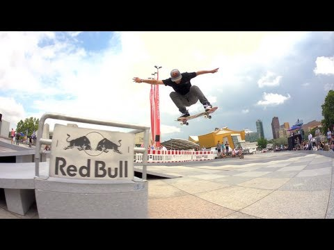 Downhill Street Skate Course in Berlin - Red Bull Bomb the Line Skateboard Contest