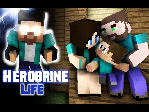 Monster School : Herobrine's Life (Sad but very touching story) - Best Minecraft Animation