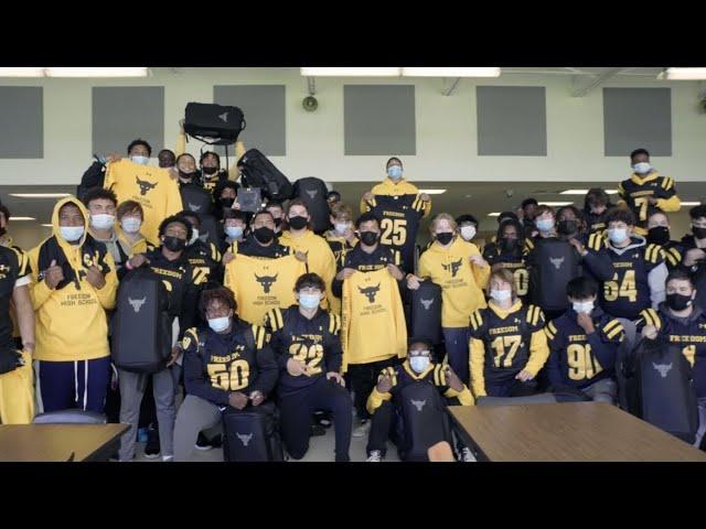 Surprising My Former High School's Football Team Pt. 1 | The Rock