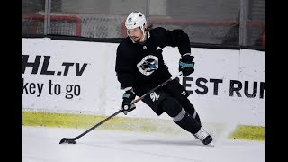 "San Jose Sharks' Erik Karlsson's first practice: ""He came as advertised"""