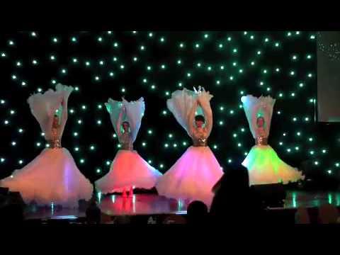 Flower dance with lights in Dubai, UAE