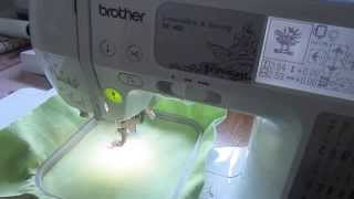 Brother SE400 Embroidery Set Up: Part Two