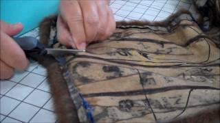 Part 3 Making a Jointed Fur Teddy Bear - Cutting the Fur