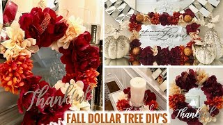 Dollar Tree Fall DIYS! | Glam Fall Home Decor Ideas 2018!