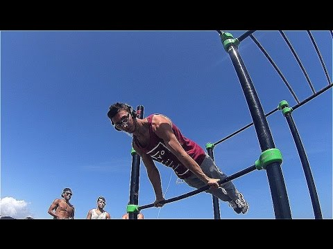My workout at Barcelona beach , Street workout 2015-16