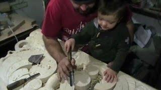 2 х летний ученик, школа резьбы по дереву, уроки, обучения и советы, часть 3