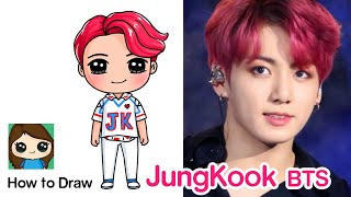 How to Draw JungKook BTS mini Doll Figure Pop Up