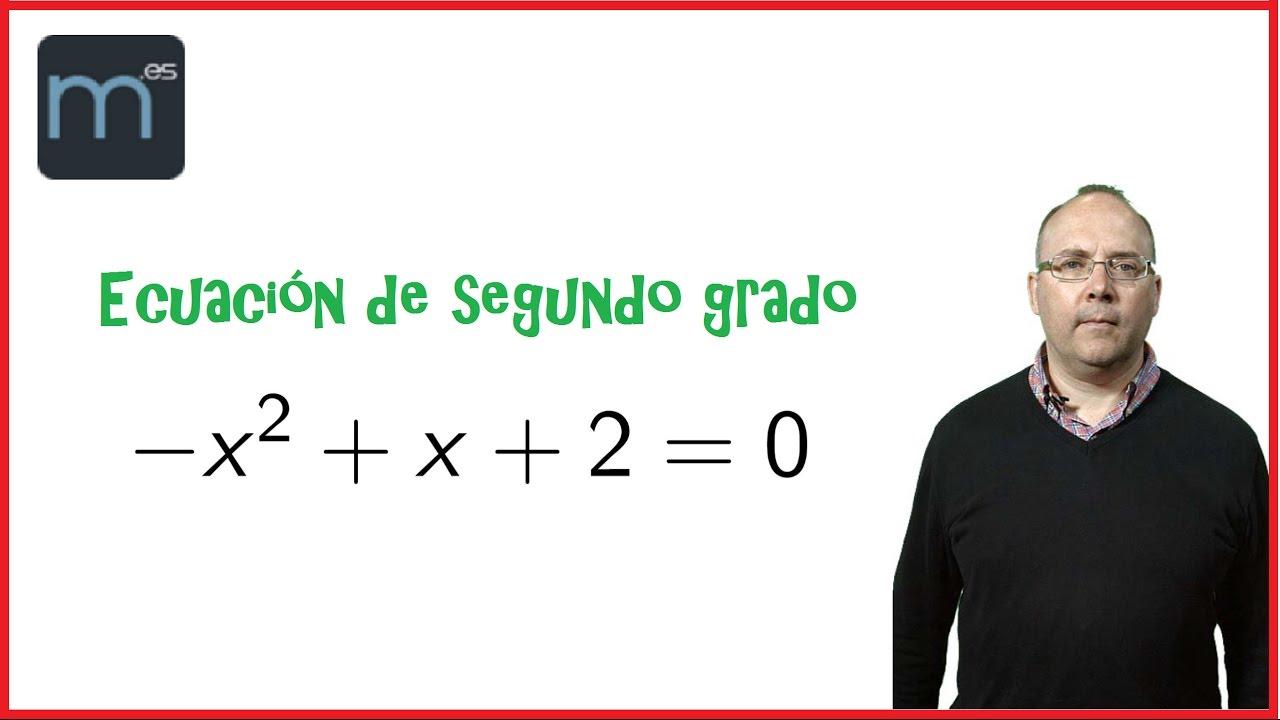 Ecuaciones De Segundo Grado Secundaria Youtube