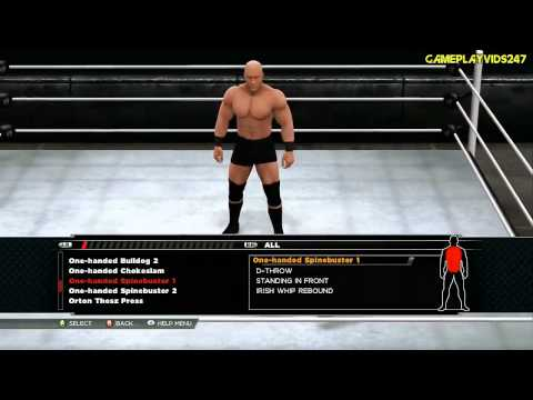 WWE 2K15: Create A Moveset Showoff: All Signatures And Finishers - Every Signature/Finisher Showoff