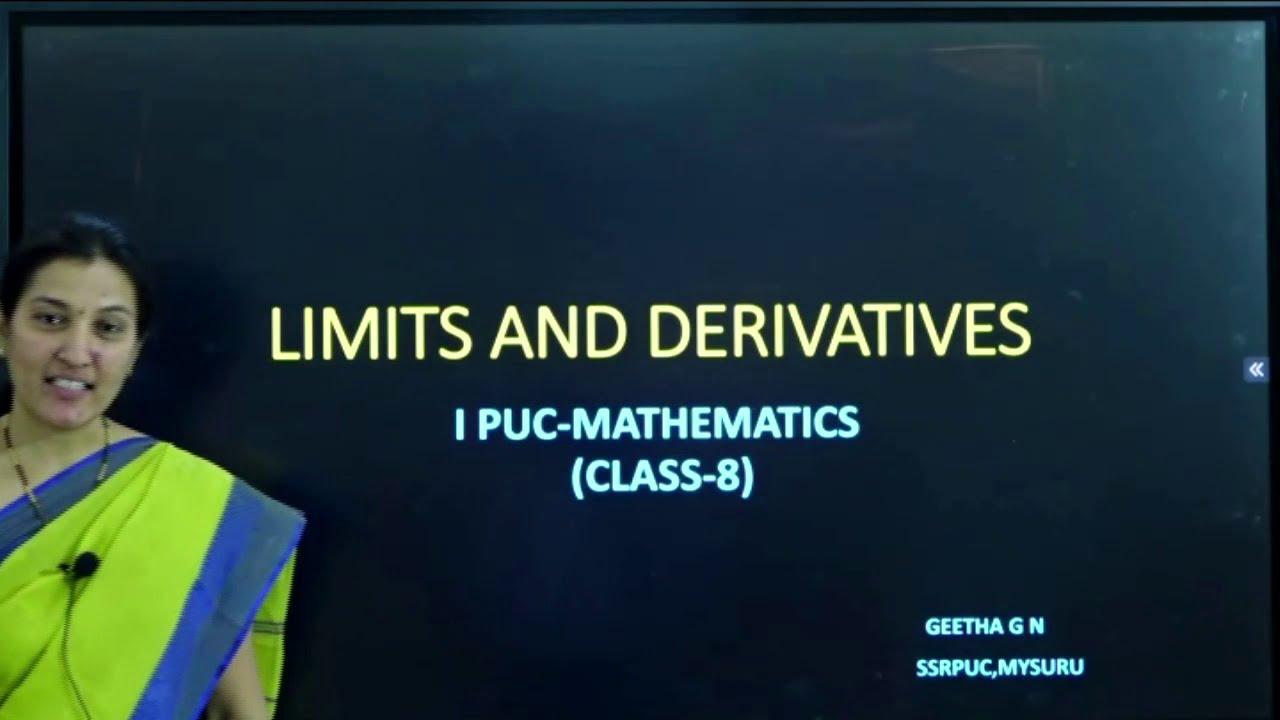 I PUC | MATHEMATICS | LIMITS AND DERIVATIVES - 08