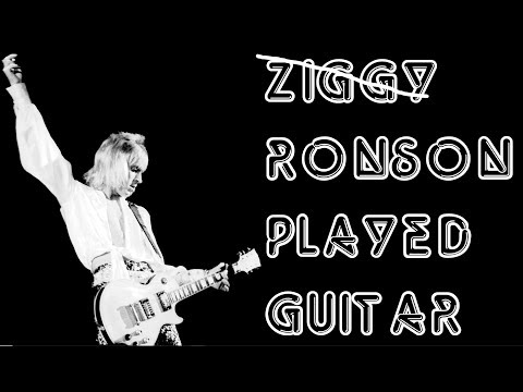 The Guitar Of Mick Ronson.  Ziggy Stardust Era David Bowie.