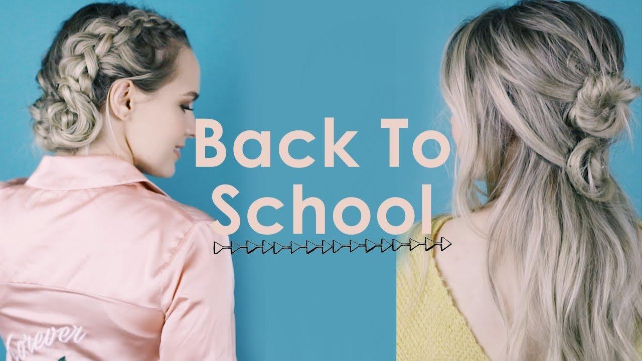 3 Back To School Hairstyles 2017 Kayleymelissa Youtube