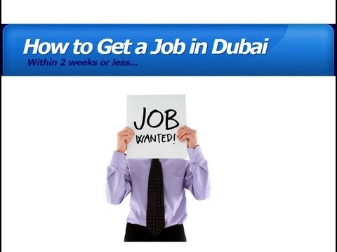 How to get a Job in Dubai in 2 Week! Tip to DO IT!