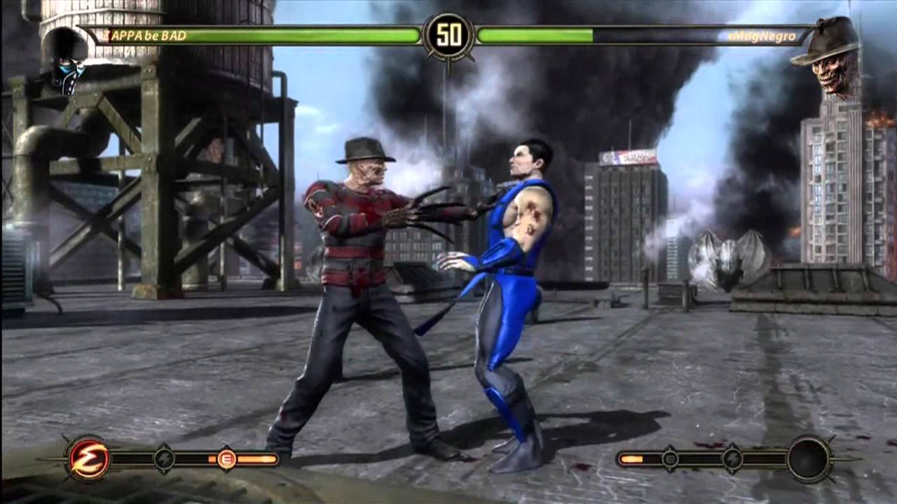 Mortal Kombat First Games With Freddy Krueger GAME 3 YouTube