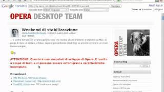Opera Browser 10.60 (10.70) + Google Translate
