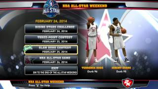 NBA 2k14 How to play all star weekend on pc
