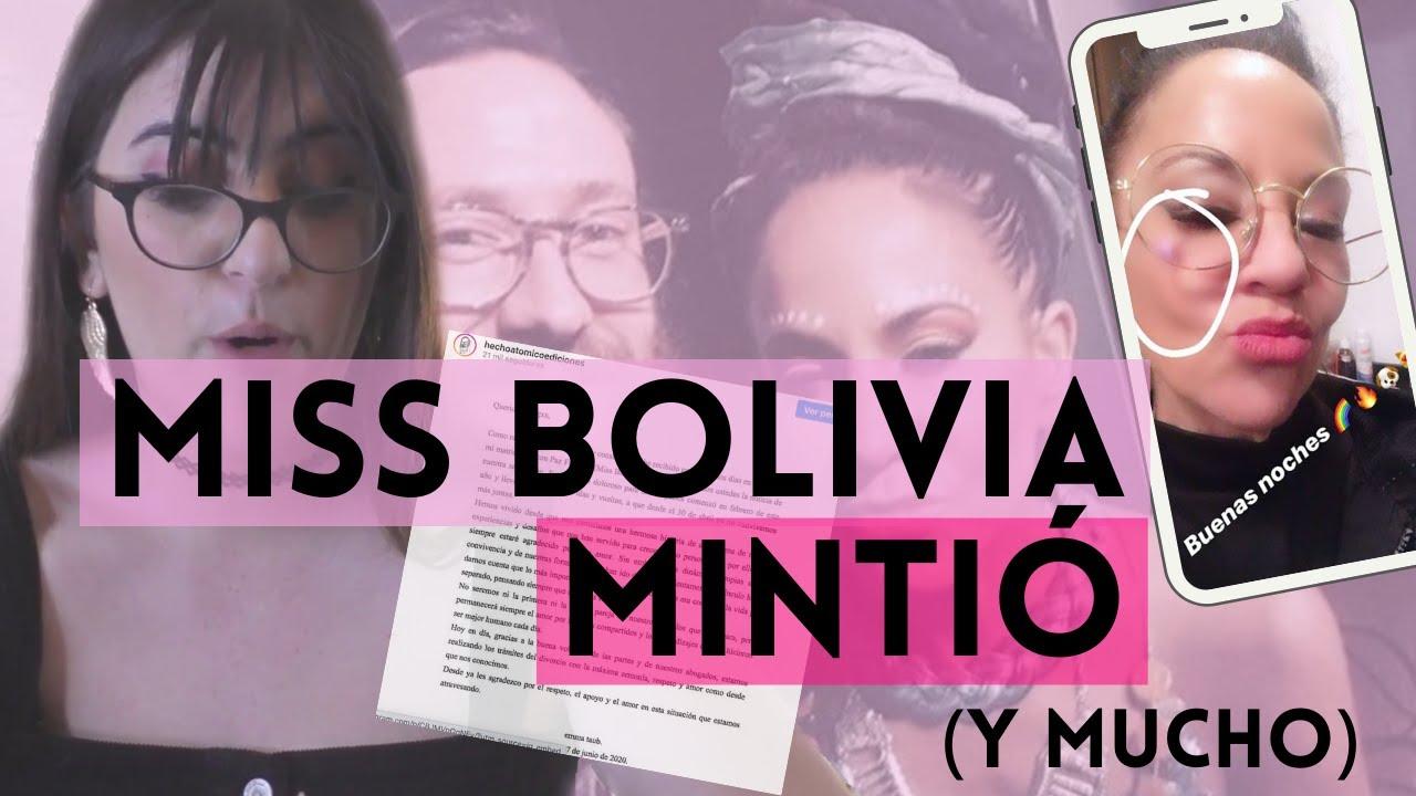 La DENUNCIA FALSA de MISS BOLIVIA | metió la pata hasta el fondo y hay evidencia