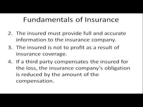 Fundamentals of Insurance