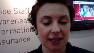 Metacompliance UK Channel Manager Tara Hutton at Infosecurity Europe 2011