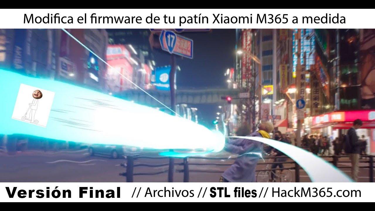 Xiaomi M365: cargar un firmware a medida – + control / +
