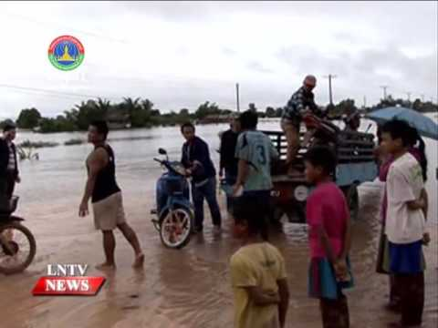 Lao NEWS on LNTV: Weather forecasters are warning of strong wind gusts & rain in Laos.13/9/2016