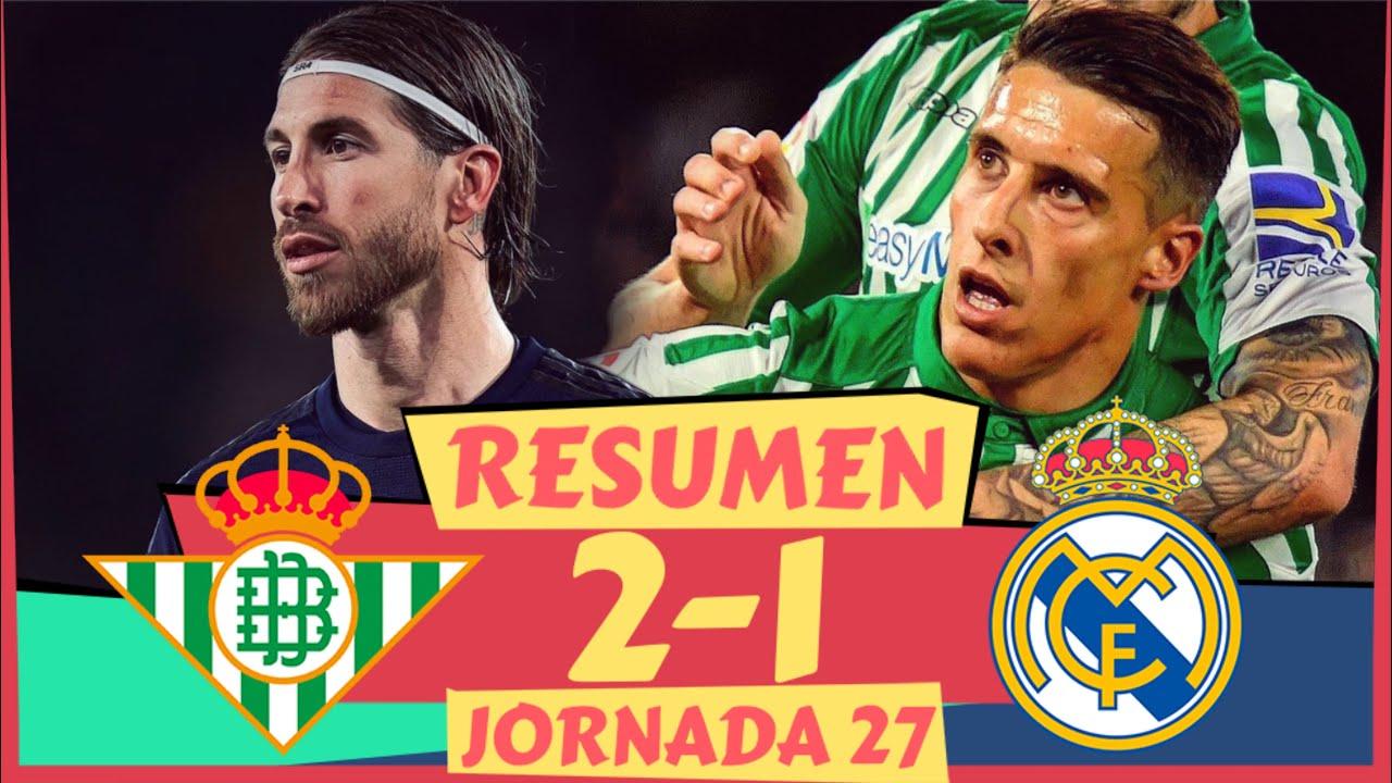 El resumen del Betis 2-1 Real Madrid de LaLiga: vdeo, goles y ...