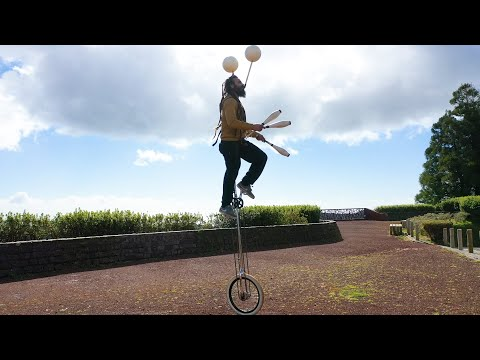 Juggling On Unicycles & More!  Circus IRL