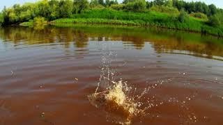 Где то в Сибири рыбалка батовой сетью