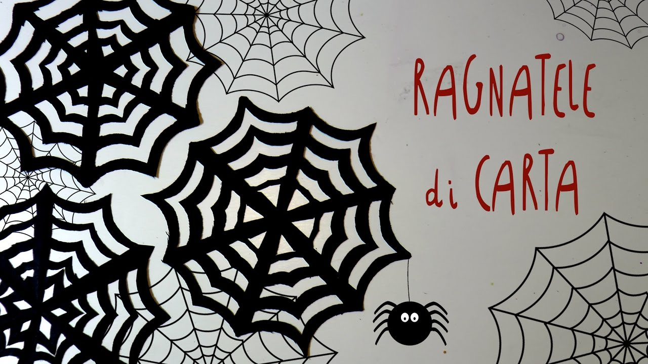 Addobbi Tavola Per Halloween tutorial come fare le ragnatele di carta per halloween by fantasvale