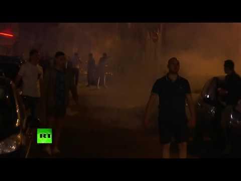 В Лилле футбольные болельщики продолжают устраивать беспорядки