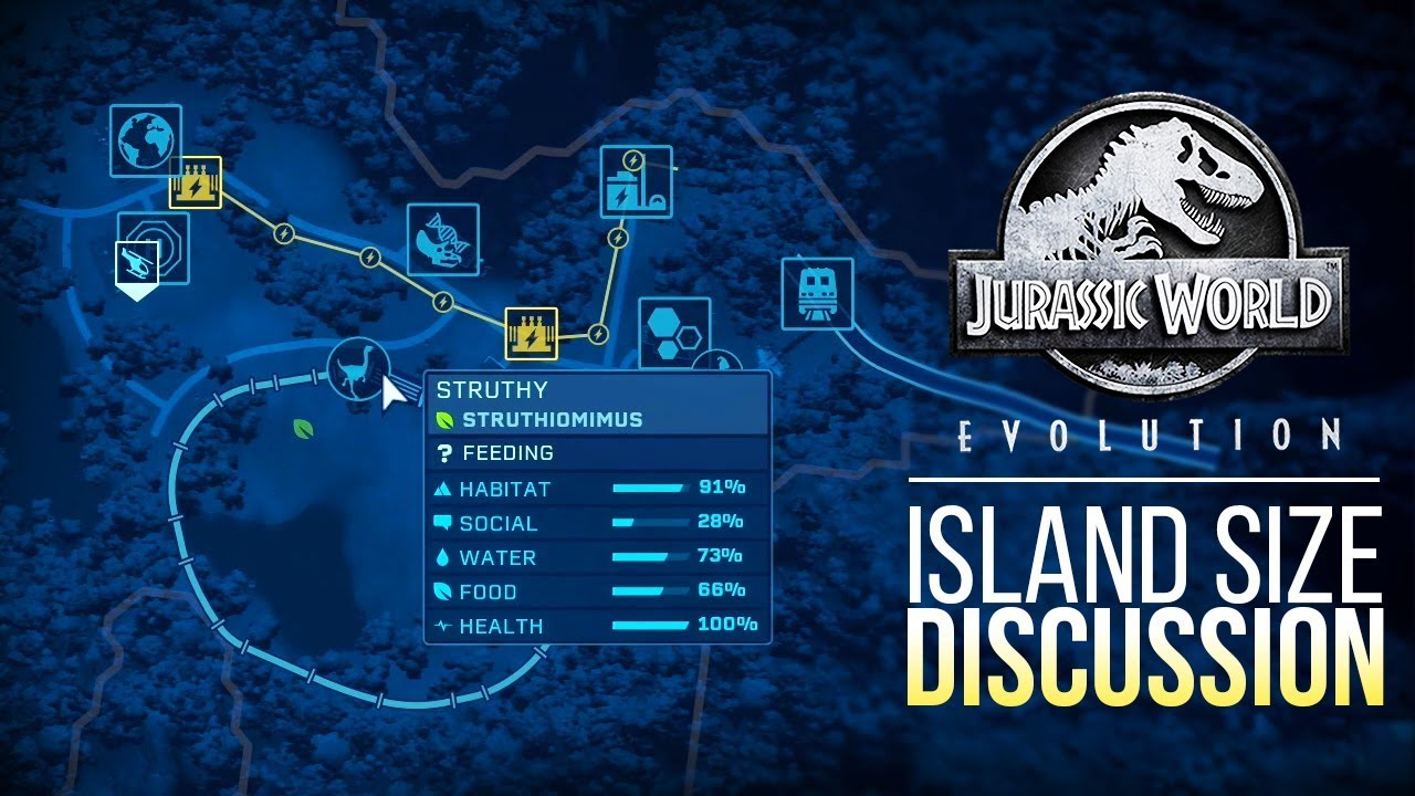 ISLA SORNA IS HUGE! MAP SIZE DISCUSSION | Jurassic World: Evolution ...
