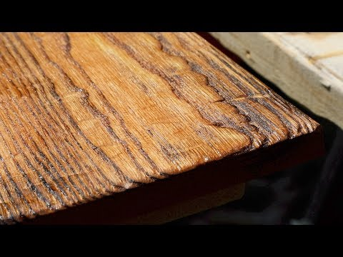 Distressing wood