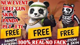 NEW EVENT HOW TO GET FREE PANDA PET , FREE GUN SKIN IN FREE FIRE ||HINDI||🇮🇳