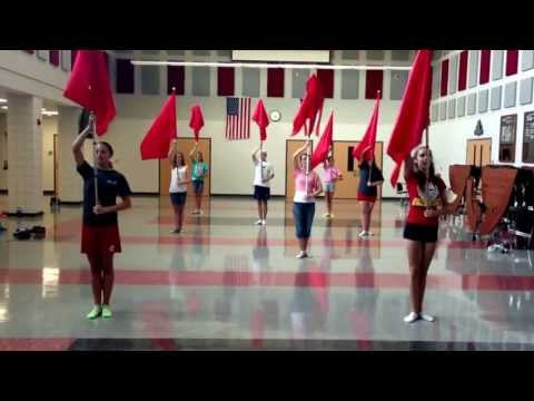 Norwayne High School Color Guard!! 2nd day!! Fundamental Sequence!!
