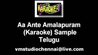 Aa Ante Amalapuram Telugu Karaoke.flv
