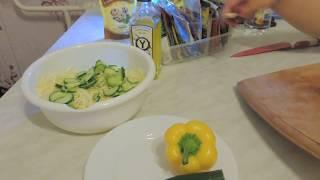 Зимний салат из свежих овощей
