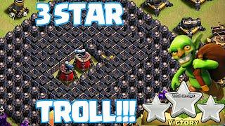 Clash Of Clans - NO WALLS IN WAR VICTORY!!! ( w/Goblin 3 star)