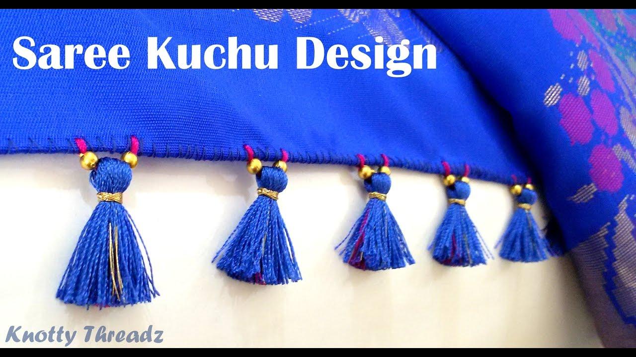 How To Make Saree Kuchu Tassels Design Using Silk Thread Beaded Design 3 At Home Tutorial