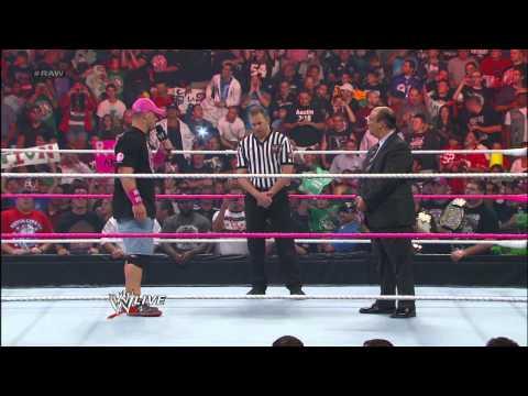 John Cena wants a rematch with CM Punk: Raw, Sept. 17, 2012
