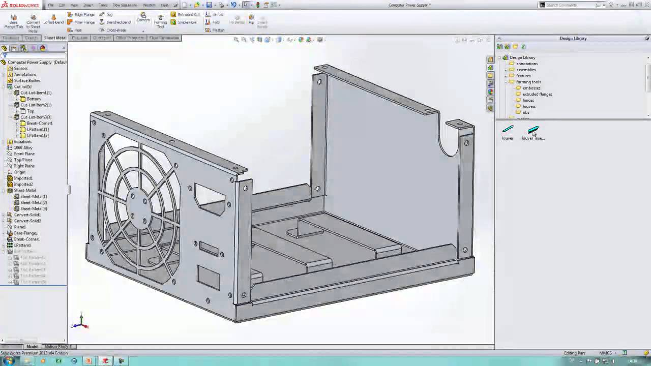 Solidworks 2013 Sheet Metal Youtube