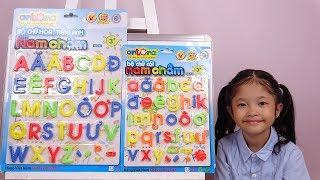 Trâm Anh Học Bảng Chữ Cái Tiếng Việt, Bộ Chữ Thường, Trâm Anh Chuẩn Bị Đi Học Lớp 1