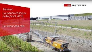SWISS-FLY - CFF - Lausanne-Puidoux - Le retour des rails - FR